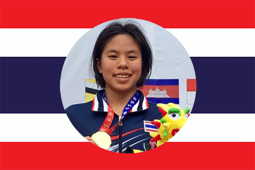 thai national swimmer Jinjutha