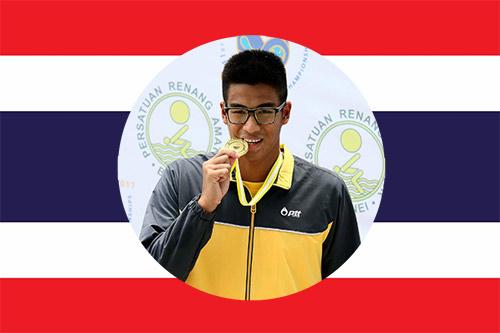 thai national swimmer Jiraphat