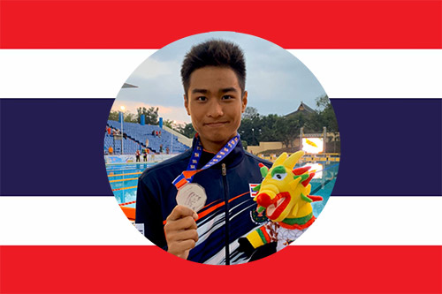 thai national swimmer Opchoey