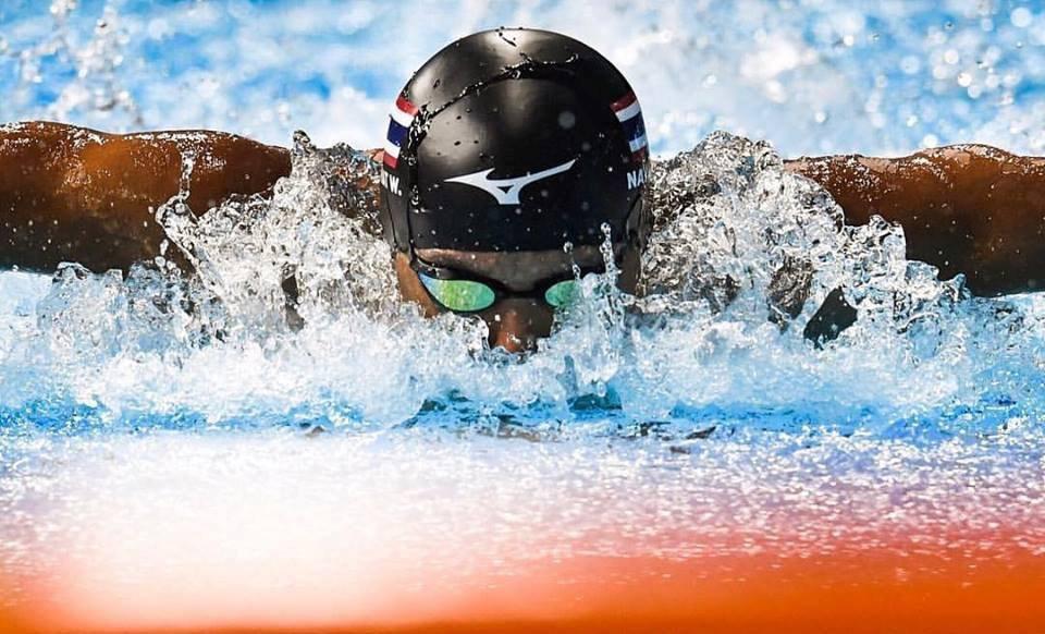 close up of Bangkok Elite Team National swimmer butterfly