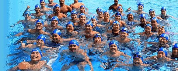 happy members of Bangkok Elite Swim Club