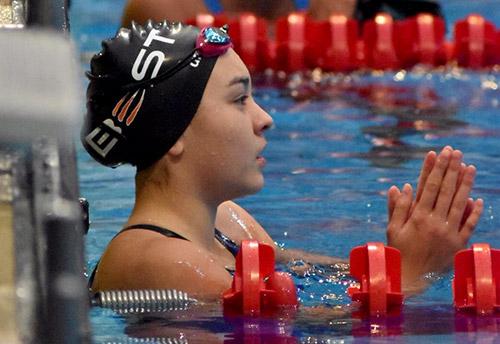 Bangkok Swim Academy national swimmer Chloe in the pool