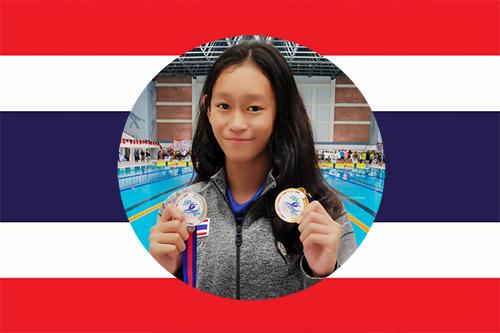 Best National swimmer Kamonluk with swim medals