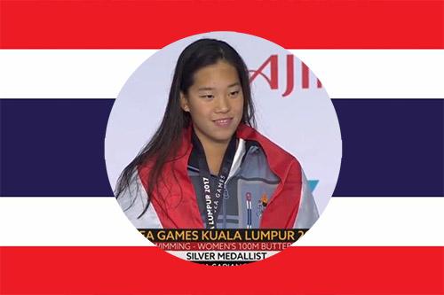 Best national swimmer Kornkarnjana silver medalist in Malaysia