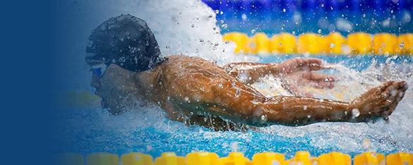 A Bangkok Elite Swim team member racing