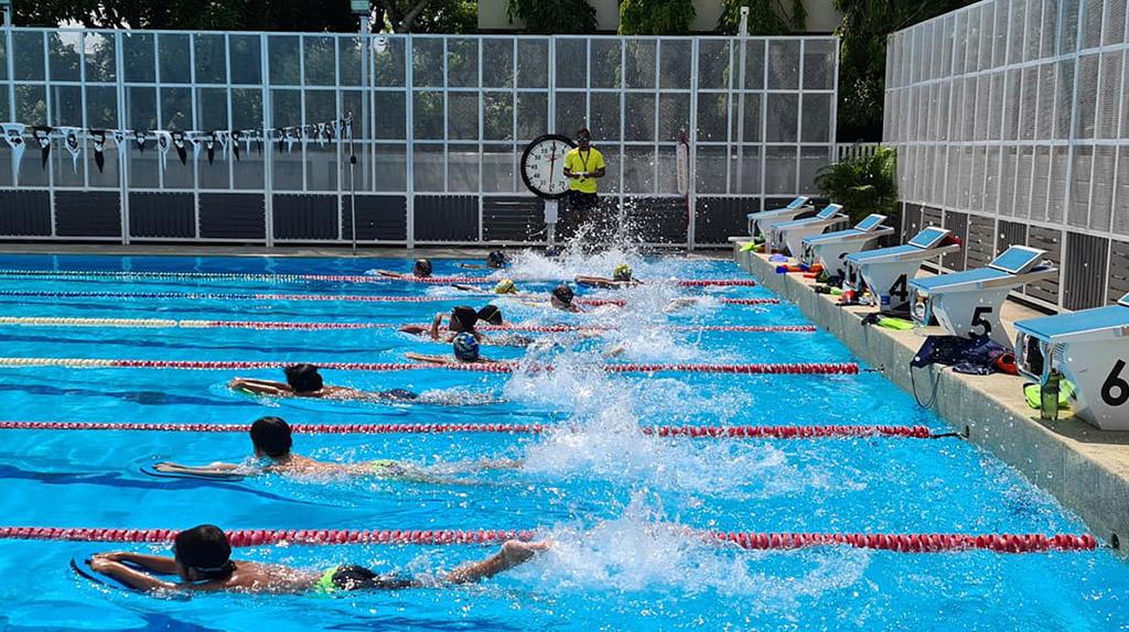 Squad training at Best Swim Club Bangkok