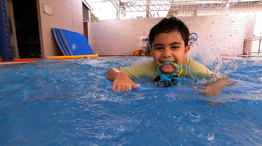 swimming lessons taking place in Bangkok